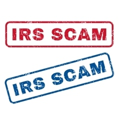 Irs scam rubber stamps vector