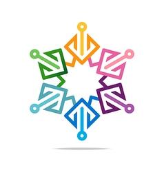 Logo element arrow colorful design symbol icon vector