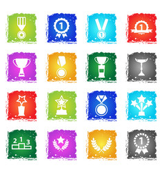 medals and tropheys simply icons vector image