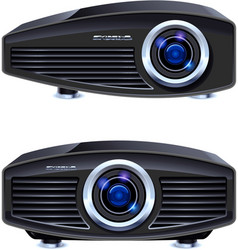 multimedia projector vector image