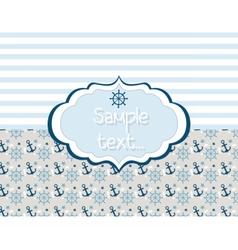 Nautical or marine themed card vector