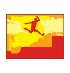 person jumping vector image