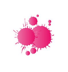 Pink watercolor paint drops vector