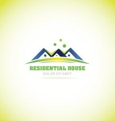 Real estate house villa logo icon vector