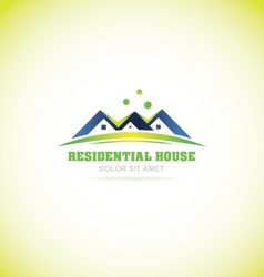 Real estate house villa logo icon vector image vector image