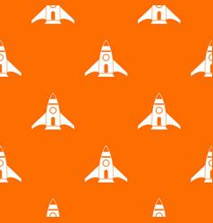 rocket pattern seamless vector image