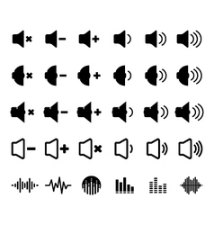 Sound and equalizer icon vector