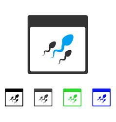 Spermatozoids calendar page flat icon vector