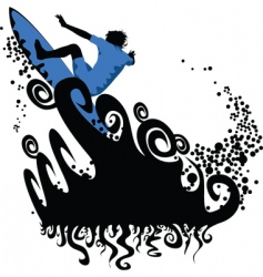 surfing graphics vector image