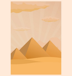 travel poster to egypt flat vector image