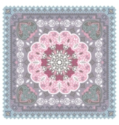 Turkish rug style seamless pattern vector image vector image