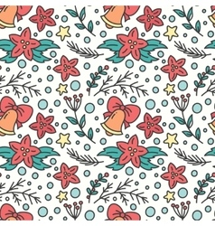 Hand drawn christmas seamless pattern new year vector