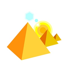 Icon pyramid vector