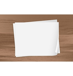 Two empty papers vector image