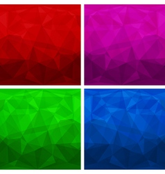 Set of abstract modern style triangle backgrounds vector