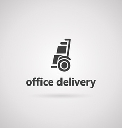With icon for alternative transport for office vector