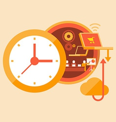Time training and skills development vector