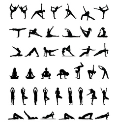 Yoga and fitness vector