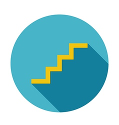 Stair icon long shadow vector