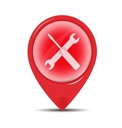 Red service symbol vector