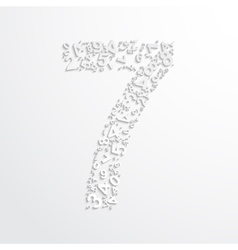 Number seven from numbers vector