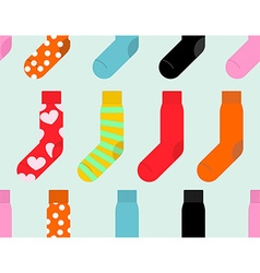 Colorful socks seamless pattern accessory clothing vector