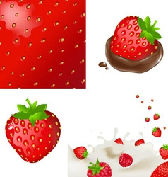 Strawberrys and cream vector