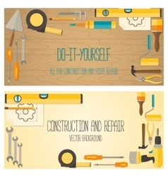 Web banner concept of diy shop vector