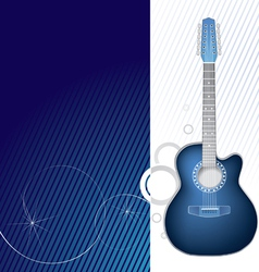 Blue guitar design graphic vector