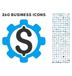 Development price icon with flat set vector