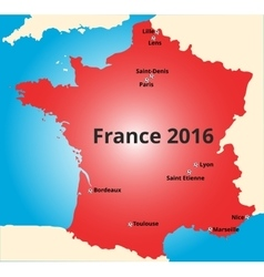 Cities of france euro 2016 vector
