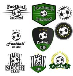 Professional sports logo football vector image