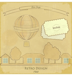 Vintage air balloon vector