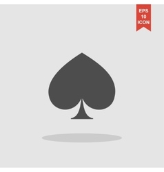 Poker icon flat vector