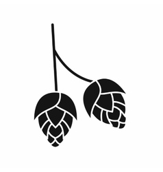 Branch of hops icon simple style vector