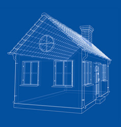 a small house with shingles roof vector image