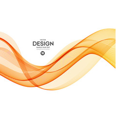 Abstract background orange wavy vector