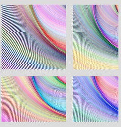 Abstract digital brochure background set vector