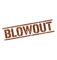 Blowout stamp vector