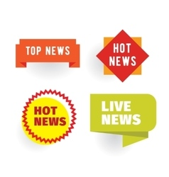 Breaking hot viral news labels set vector