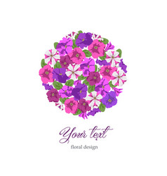 Business template floral design in circle vector