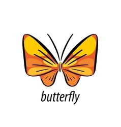 butterfly logo vector image vector image