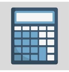 Calculator of money concept vector