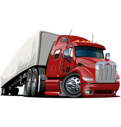 cartoon semi truck vector image