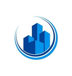 cityscape modern building architecture logo vector image vector image