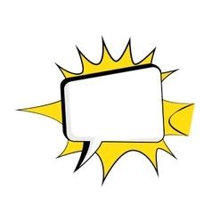 comic bubble talk vector image