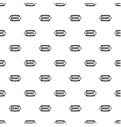 Discount oval label pattern vector