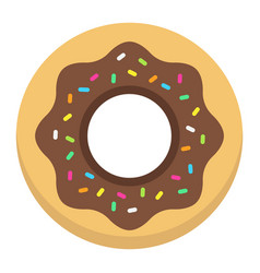 donut flat icon food and drink sweet sign vector image vector image