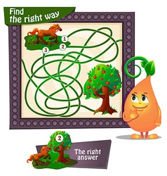 find the right way horse vector image vector image