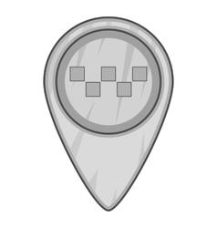 Geo taxi icon gray monochrome style vector image vector image